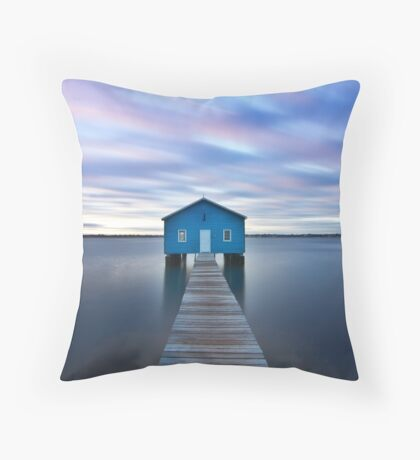 Sunrise at Matilda Bay Boatshed in Perth, Western Australia Throw Pillow