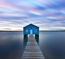 Sunrise at Matilda Bay Boatshed in Perth, Western Australia by sjporter
