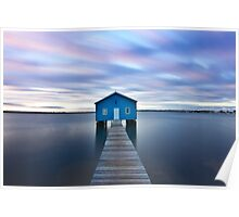 Sunrise at Matilda Bay Boatshed in Perth, Western Australia Poster
