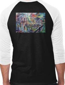 Lucas Sulton - GLASSBLOWER -artist Bob Gammage Men's Baseball ¾ T-Shirt