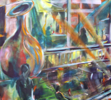 Lucas Sulton - GLASSBLOWER -artist Bob Gammage Sticker