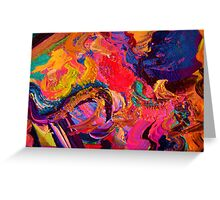 A Portrait of Color and Texture Greeting Card