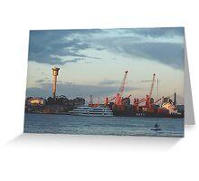 The Docks , Sydney Harbour,Australia Greeting Card