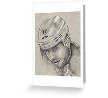 Milan Lucic - Boston Bruins Hockey Portrait Greeting Card