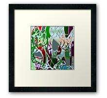 Modern with abstract, designs Framed Print
