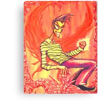 Groovin' Flamey Canvas Print