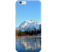 Mount Shuksan with Picture Lake in teh winter iPhone Case/Skin