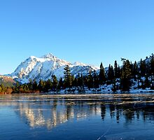 Mount Shuksan with Picture Lake in teh winter by Lena127