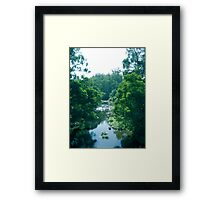 Tranquil Summer River Framed Print