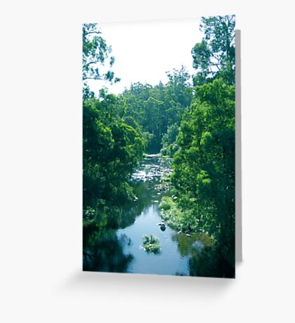Tranquil Summer River Greeting Card