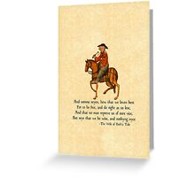 The Wife of Bath's Design Greeting Card