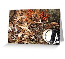 Autumn Shoes Greeting Card