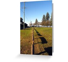 Straight Lines Greeting Card