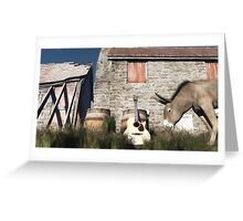 L'âne musicien / The donkey musician Greeting Card
