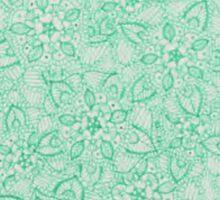 Green Zentangle Sticker