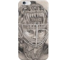 Tuukka Rask - Boston Bruins Hockey Portrait iPhone Case/Skin