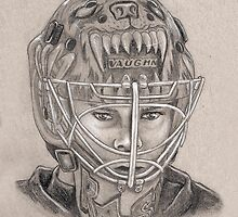 Tuukka Rask - Boston Bruins Hockey Portrait by HeatherRose