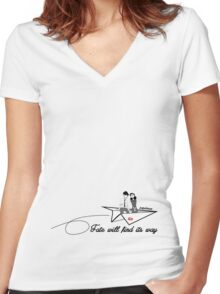 Paperman - Fate will find its way Women's Fitted V-Neck T-Shirt