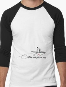 Paperman - Fate will find its way Men's Baseball ¾ T-Shirt