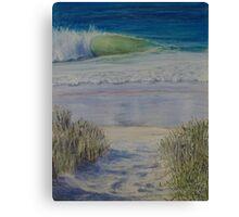 A stroll to the Beach Canvas Print