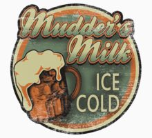 Mudder's Milk Vintage Sign Kids Tee