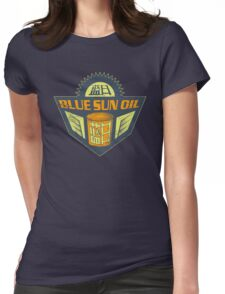 Blue Sun Vintage Oil Sign Womens Fitted T-Shirt