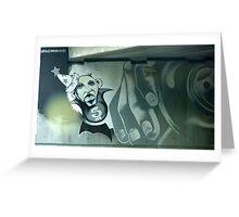 Perth city wall graffiti Greeting Card