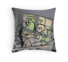 Window Stairs Throw Pillow