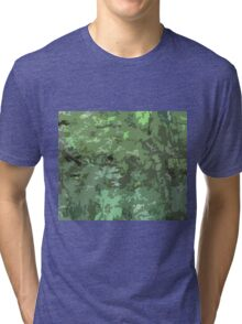 Shades Of Green Camo Abstract Nature Camouflage Design Pattern Tri-blend T-Shirt