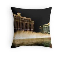 The Fountains Come Alive at Night! Throw Pillow