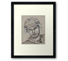 David Krejci - Boston Bruins Hockey Portrait Framed Print