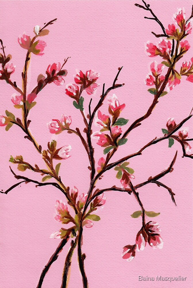 Cherry Blossoms from Amphai by Baina Masquelier