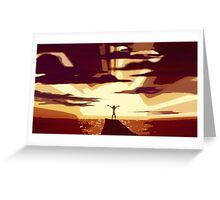 Go The Distance Greeting Card