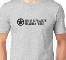Posse - Black text. Unisex T-Shirt
