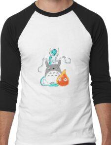 A tribute to Hayao Miyazaki Men's Baseball ¾ T-Shirt