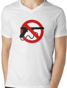 Light Gun Control Mens V-Neck T-Shirt