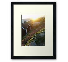 Bournemouth Beach and Beach Huts Framed Print