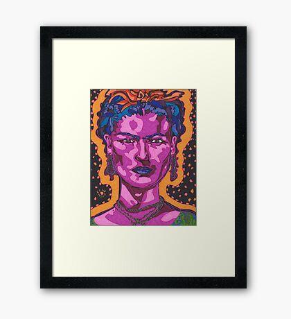 The Inspiration of Frida Kahlo Framed Print