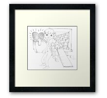 PENCIL ART - To Support A Cause Dear To Our Hearts Framed Print
