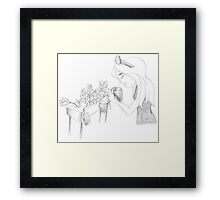PENCIL ART - There Are Some Answers We Will Never Get... And Some Things We'll Never Find Closure With Framed Print