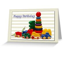 Little Boy's Birthday Card Greeting Card