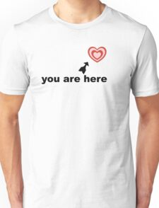 you are here (in my heart)  Unisex T-Shirt