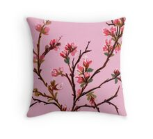 Cherry Blossoms from Amphai Throw Pillow