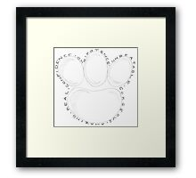 """PENCIL ART - Never Be Afraid Of The Word """"Cougar"""" Framed Print"""
