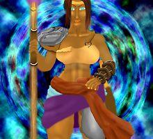 Female sorcerer in portal by tagan johnson