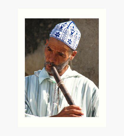 Snake Charmer in Morocco II Art Print