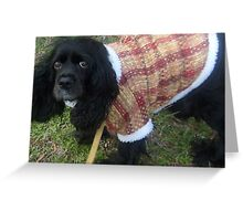 Warm & Snuggly Pup Greeting Card