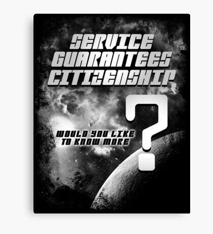 Service Guarantees Citizenship Canvas Print