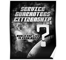 Service Guarantees Citizenship Poster