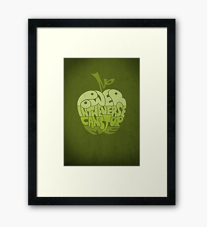 No Power in the Verse Can Stop Me - Poster Framed Print
